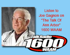 "Listen to Joe Gagnon on ""The Talk Of Ann Arbor"" 1600 WAAM"